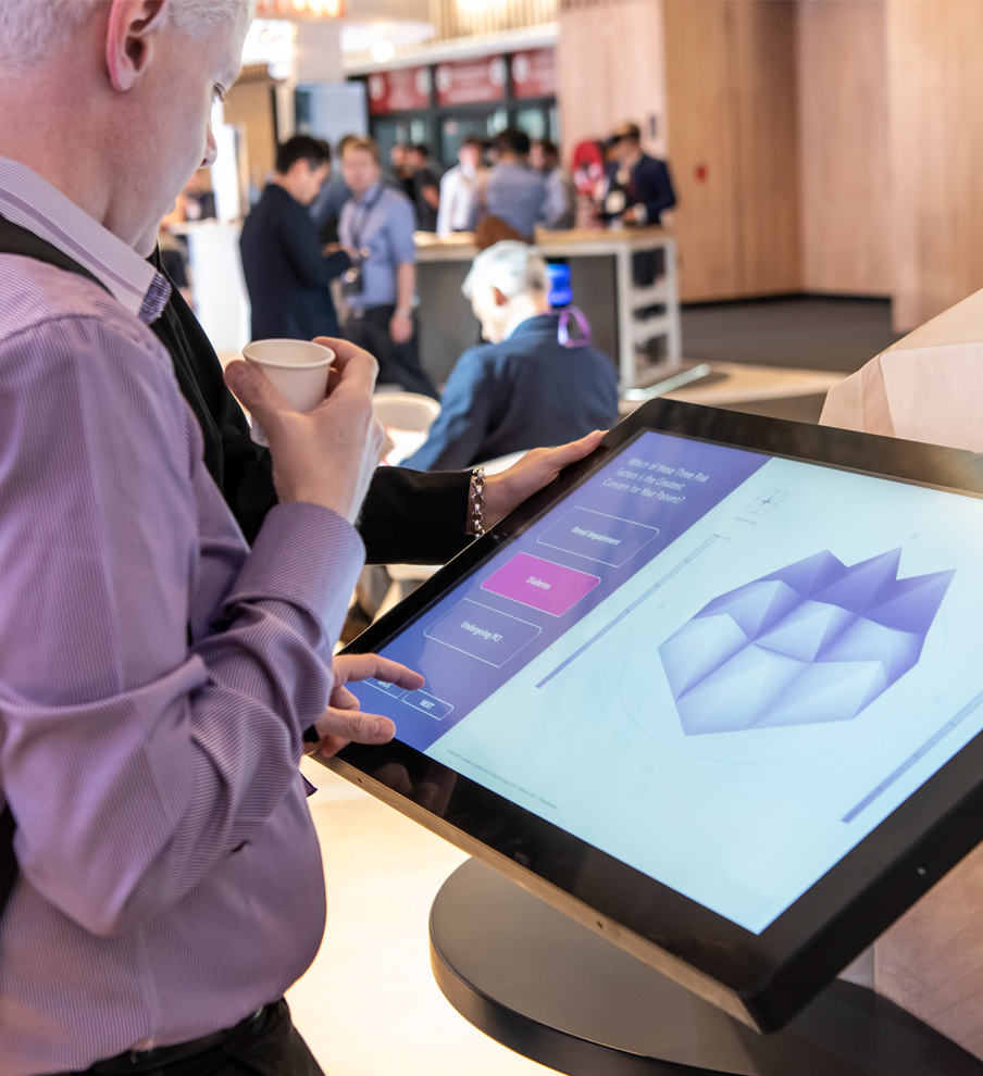 Live events interactive technology to support trade show marketing, designed by MCCGLC