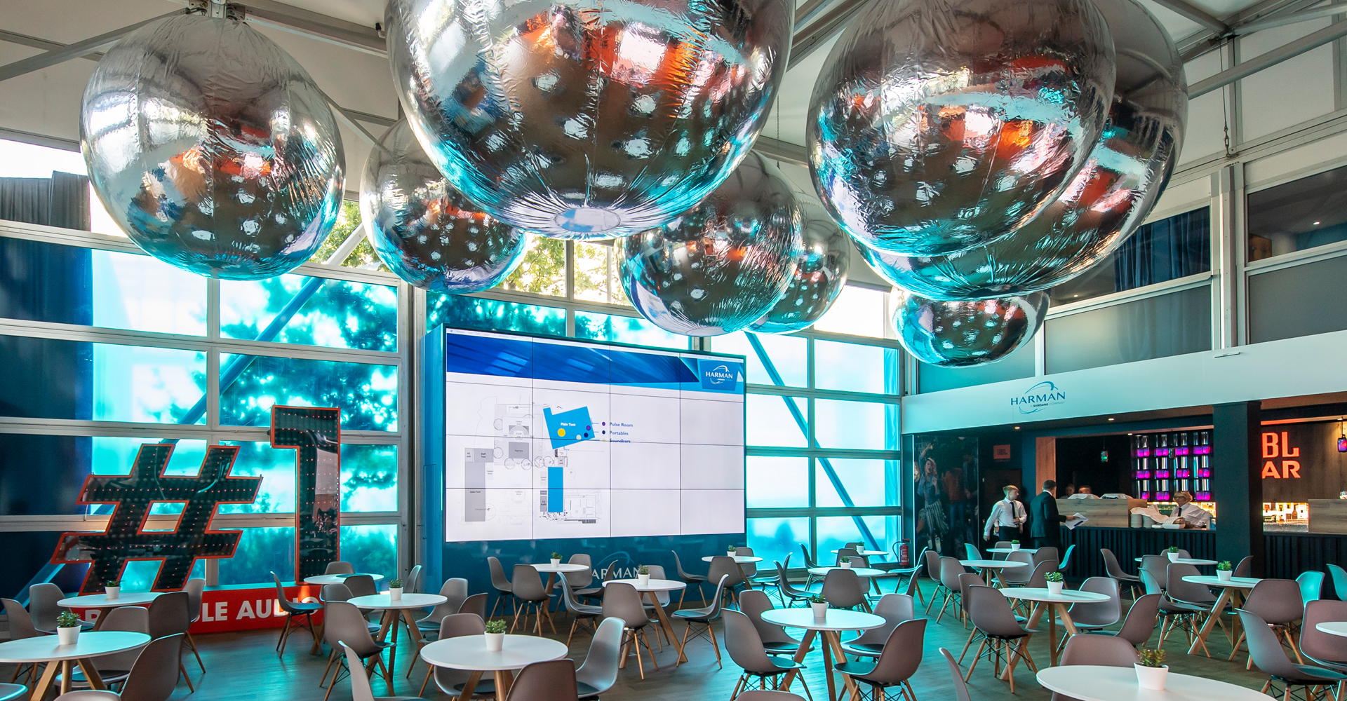 Harman exhibition and product displays by MCCGLC at IFA Berlin