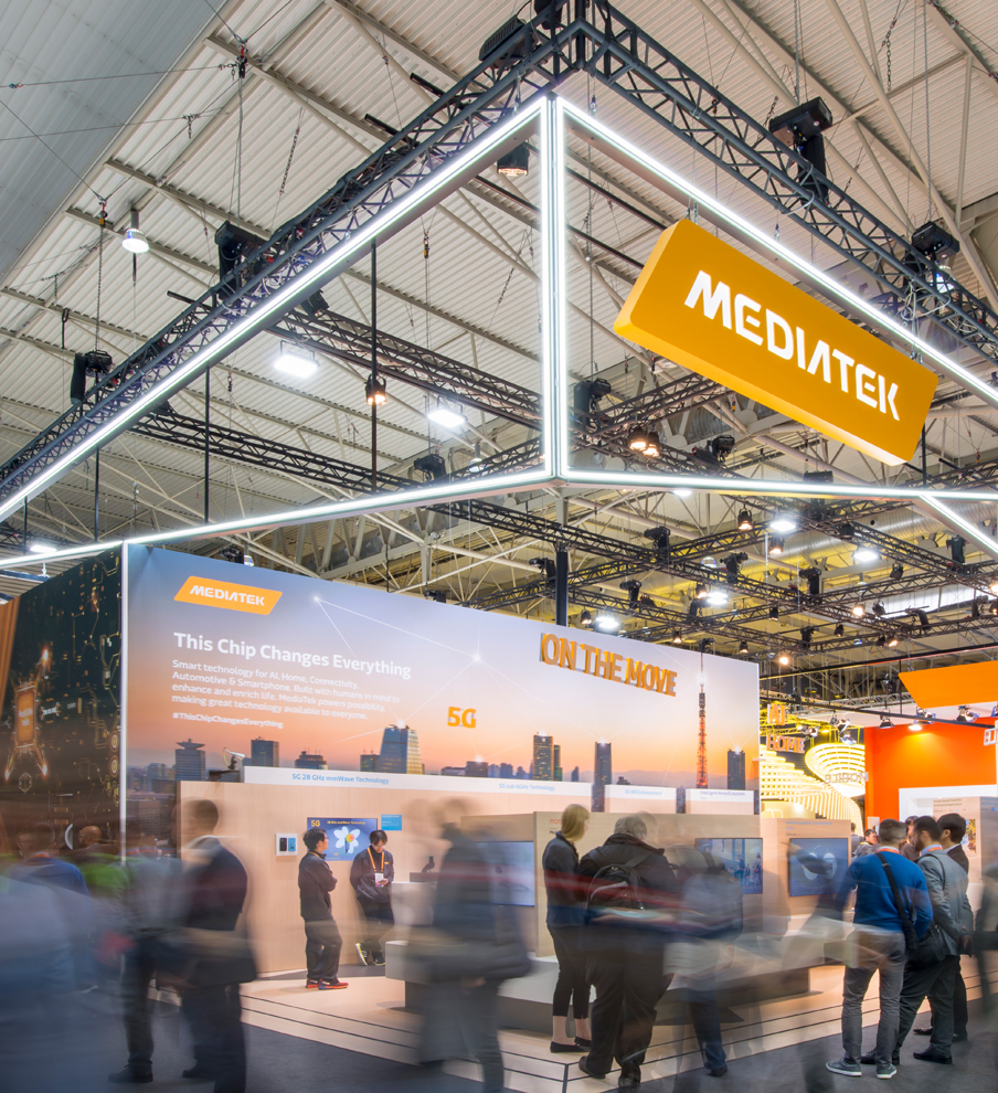 MediaTek Exhibition Stand at CES with creative strategy by MCCGLC