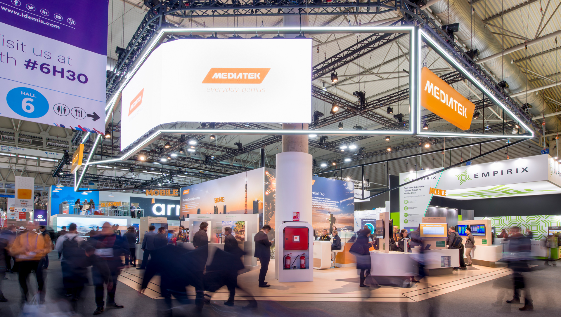 Mediatek exhibition space with brand experience by MCCGLC